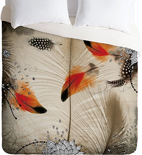 Deny Designs  Iveta Abolina Feather Dance Duvet Cover, King by Deny Designs