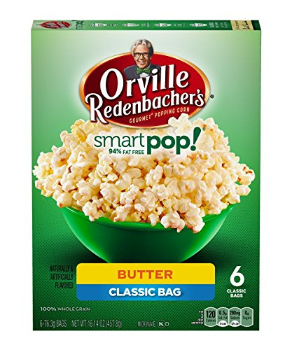 Orville Redenbacher's Smart Pop! Butter Flavored Popcorn (2 Pack) 6 Count - Orville Pop Smart