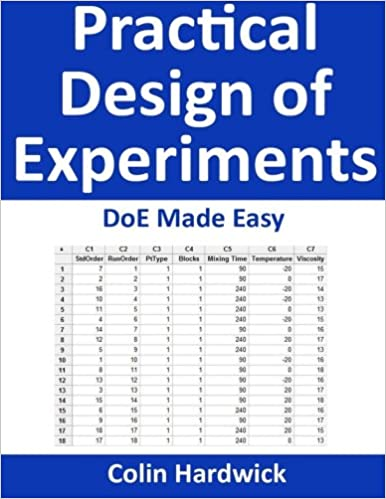 amazon practical design of experiments doe made easy colin