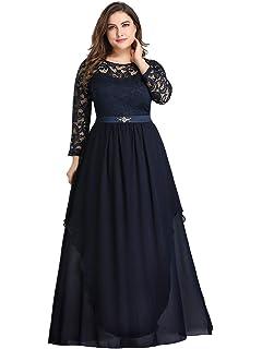 Lover-Beauty Vestido Largo Mujer Talla Grande Moda Bolsillo Top ...