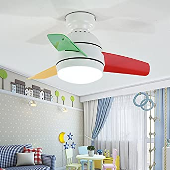 Habitación de los Niños Dormitorio DIM Ventilador de techo Luz ...