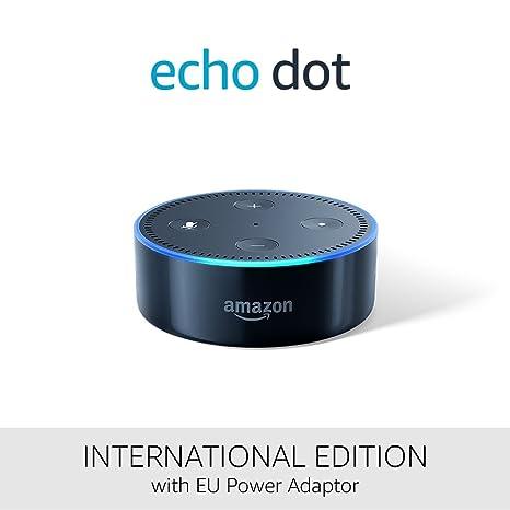 Amazon Echo Dot (2. Generation), schwarz – Internationale Version, EU-Netzteil