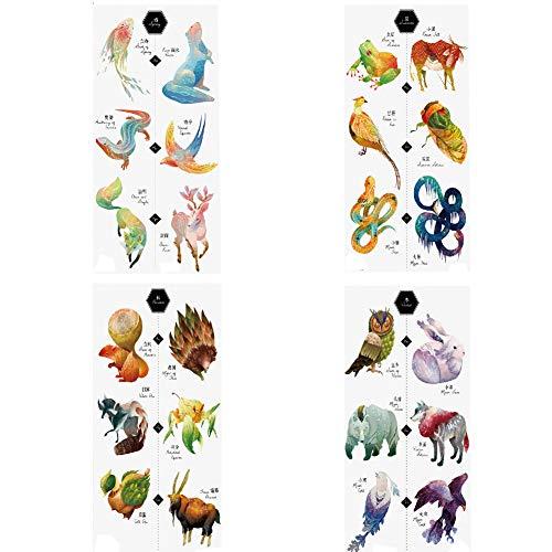 TAFLY Colors All Kinds of Cute Animals Temporary Tattoo Sticker Body Art Fake Tatoo 4 -