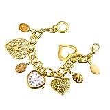 Asj Women's Retro Bracelet Watch,Elegant Gold Analog Quartz Watch for Women,Waterproof
