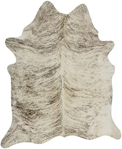 rodeo Exotic Brazilian Grey Brindle Cowhide Rug