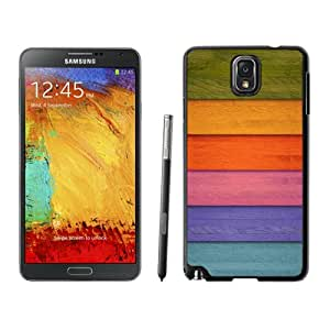 Colorful Wooden Stripe Hard Plastic Samsung Galaxy Note 3 Protective Phone Case