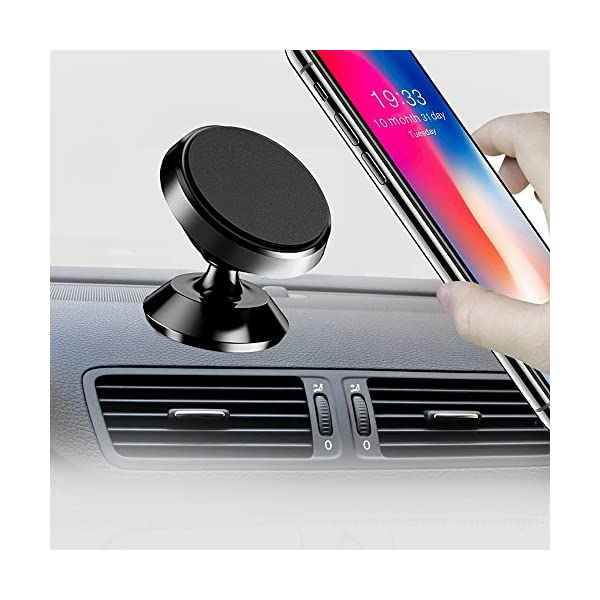 Kresdy Magnetic Car Mount Holder, 360° Rotation Smartphone Holder For Car,Universal Dashboard Mount,Hands Free Phone Mount, Cell Phone Holder For IPhone 7/8 Plus/X, Samsung Galaxy S8 / S7