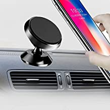 Magnetic Car Mount Holder, 360° Rotation Smartphone Holder for Car,Universal Dashboard mount,Hands Free Phone mount, Cell Phone Holder for iPhone 7 / 8 Plus / X, Samsung Galaxy S8 / S7