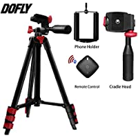Camera Tripod - DOFLY 42-Inch Digital SLR Camera Aluminum Travel Portable Tripod FOR All Canon Sony, Nikon, Samsung, Panasonic, Olympus, Kodak, Fuji, Cameras Devices with Carry Bag