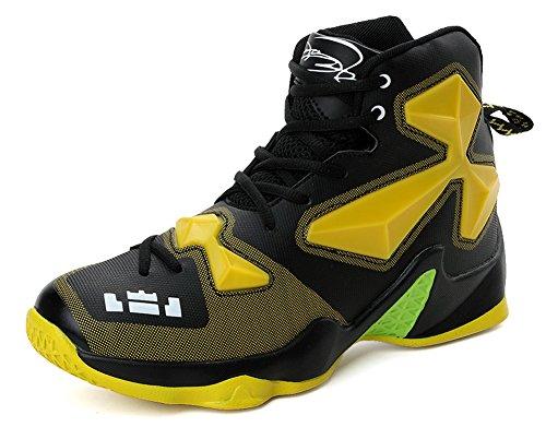 Jiye Prestazioni Sportive Scarpe Da Basket Da Uomo Sneakers Moda Nero Giallo