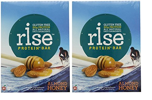 RiseBar Protein Almond Honey, 12-Count Bars 2 Pack by Rise Bar