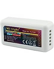 LIGHTEU®, contrôle WiFi sans fil 2,4 GHz LED RGBW Strips Controller WLAN 12-24V Max. sortie 10A, Milight Miboxer FUT038