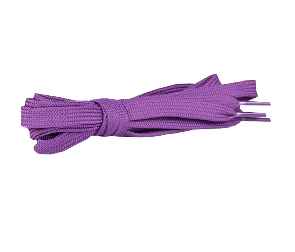DRAGON SONIC Flat Shoelaces [1 Pairs] Thick - For Shoes, Sneakers & Boots - Purple