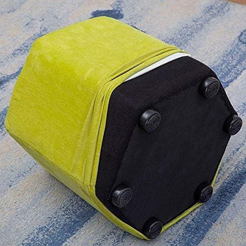 GWW Fußhocker SimpleModern Wohnzimmerhocker waschbar Stoff Sofahocker Schuhbank (Farbe: Hellgrau)