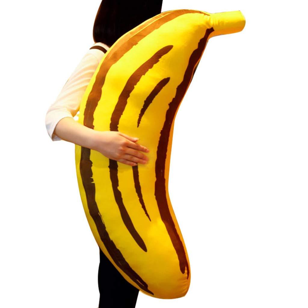 Unbekannt Dekoartikel für Kinderzimmer Kissen Kreatives Bananenkissenplüschspielzeugfruchtpuppenkissenpuppe-Geburtstagsgeschenk, hinunter Baumwollauflage, weich und bequem (Size : 90cm(35.4inches))