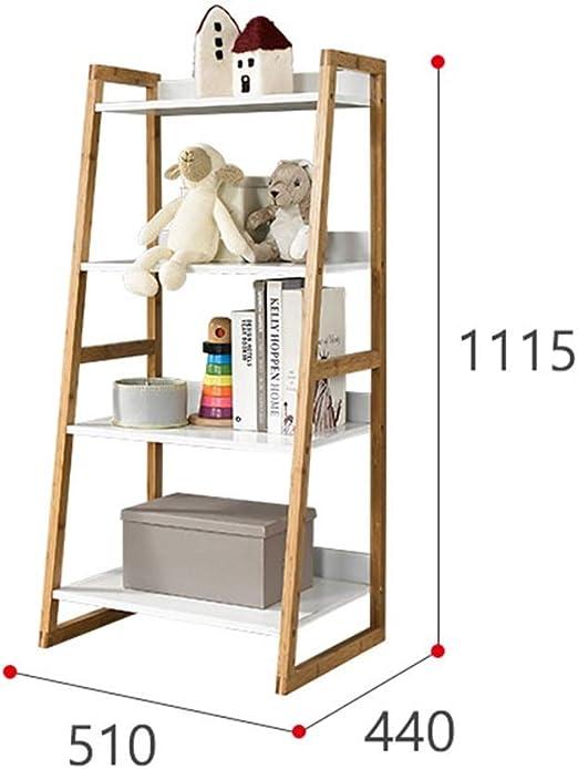 ZhaoXH Estantería de Almacenamiento de Madera Maciza Trapezoidal Inclinada Escalera de Madera Estante Estante Del Soporte de Exhibición Balcón de La Flor Por Almacenamiento de Libros Planta de La Flor: Amazon.es: Hogar
