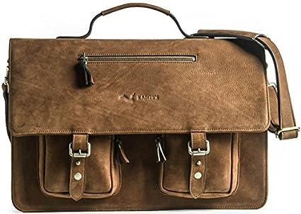 961535e912 KANZEK Luxury Full Grain Leather Messenger Bag Executive Shoulder Satchel  Briefcase for 17 quot  Laptops