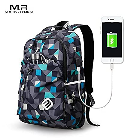 Image Unavailable. Image not available for. Colour  Mark Ryden USB Charging  Unisex 15 inch Designer Backpack ... 74ada163c2ca3