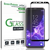 Galaxy S9 Plus Screen Protector Glass, amFilm 3D Curved Dot Matrix Full Screen Samsung Galaxy S9 PLUS Tempered Glass Screen Protector (6.2'') 2018 with Easy Application Tray (NOT S9) (Case Friendly)