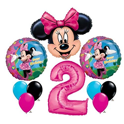 Minnie Mouse 2 2nd Second Happy Birthday Balloon Party Set Mylar Latex Disney By Anagram