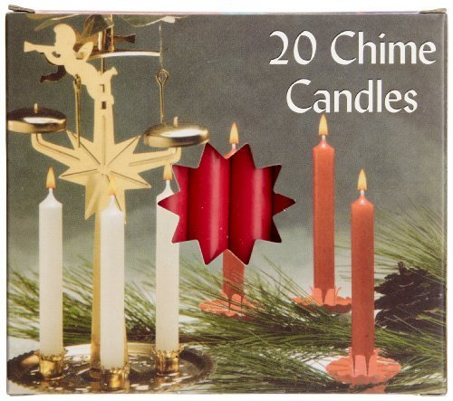 Biedermann & Sons Chime or Tree Candles 20-Count Box, Red by Biedermann & Sons