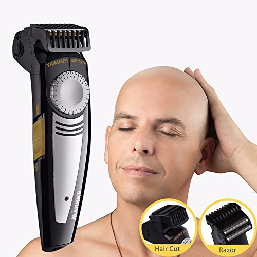 Clean Cut Razor (Bald Hair Shaver Rechargeable 9 Length Comb Hair Clipper Special Design for Bald Head and Face Skull Shaving)