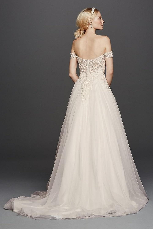 Oleg Cassini Off The Shoulder Tulle Wedding Dress Style Cwg729 At