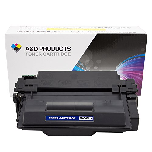 A&D Products Compatible Replacement for HP Q6511X Toner Cartridge High Yield HP 11X Black (12,000 Page Yield)