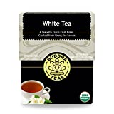Organic White Tea - Kosher, Contains Caffeine, GMO-Free - 18 Bleach-Free Tea Bags