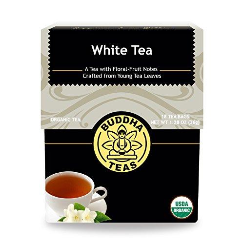 (Organic White Tea - Kosher, Contains Caffeine, GMO-Free - 18 Bleach Free Tea Bags)