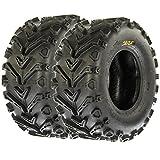 SunF 25x10-12 25x10x12 All Terrain Mud ATV UTV Tires 6 PR A041 (Set pair of 2)