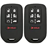2Pcs Coolbestda Silicone 7buttons Key Fob Remote Skin Cover Protector Keyless Entry Case Accessories for 2018 Honda Odyssey elite