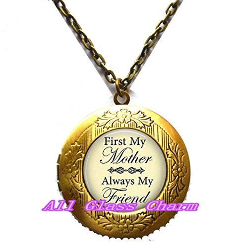 Beautiful Locket Necklace,First My Mother Always My Friend - Gift for Mom or Mother - Mother's Day - I Love - Glasses Potter Harry Online