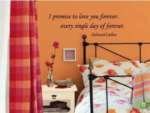 I Promise To Love You Forever Every Single Day Of Forever Edward Cullen Vinyl Wall Decal