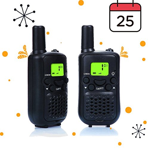 Bass Pro Shops Marine (Walkie Talkies, Wireless Interphone 22 Channel FRS/GMRS 2 Way Radio 2 miles (up to 3 Miles) UHF Handheld Walkie Talkies for Kids,Business Outdoor Use(1 Pair) (Black))