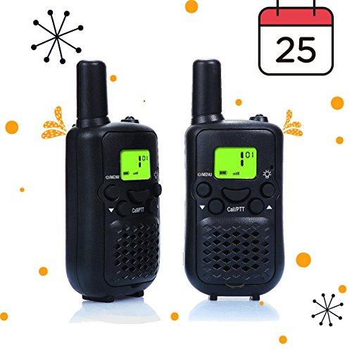 Walkie Talkies, Wireless Interphone 22 Channel FRS/GMRS 2 Way Radio 2 miles (up to 3 Miles) UHF Handheld Walkie Talkies for Kids,Business Outdoor Use(1 Pair) - Free Radio Hands Radio Shack