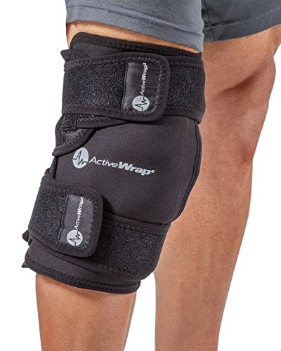 AW ACTIVEWRAP Ice/Heat Therapy Wrap For Left/Right Knees - Large/Xtra Large - Great For Knee Sprains, Strains, Tendonitis, Arthritis, And Swelling, Hot/Cold Gel Packs Included -