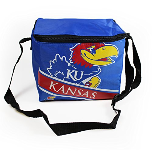 Forever Collectibles NCAA Kansas Big Logo Stripe Cooler (6 Pack), One Size, Team Color by Forever Collectibles