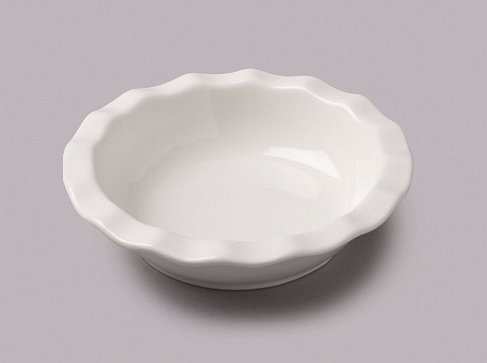 WM Bartleet & Sons Round Pie Dish Fluted Edge Small Others