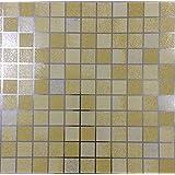 TooMeeCrafts 45 x 200 cm, da cucina, in alluminio rivestito in PVC, mosaico adhensive Stickers-Adesivi da parete, motivo: carta da parati, Specchio adesivo da parete per bagno, impermeabile, PVC, Yellow