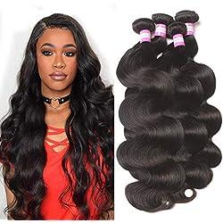 Brazilian Human Hair Body Wave 4 Bundles 24 26 28 30 Unprocessed 9A Brazilian Virgin Human Hair Weft Body Wave Remy Hair Weave Bundles Natural Color