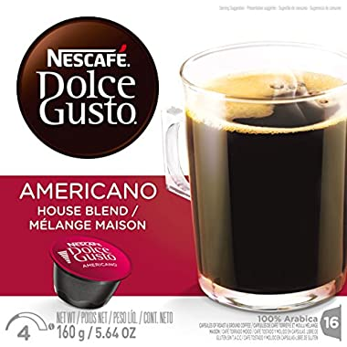 NESCAFÉ Dolce Gusto Single Serve Coffee Capsules – Americano – 48ct(pack of 3)