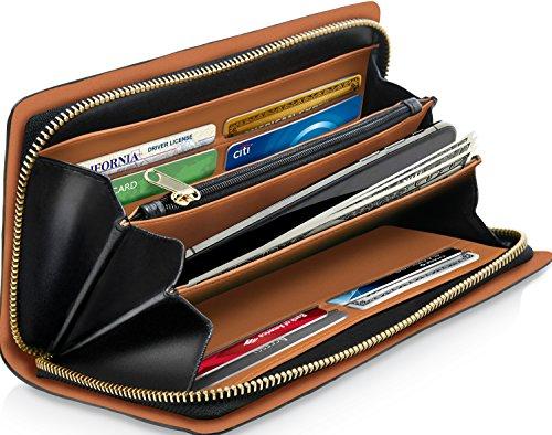 Clutch Wallets Women RFID Blocking