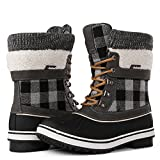 Globalwin Women's Waterproof Winter Snow Boots (9 D(M) US Women's, Black/Grey1738)