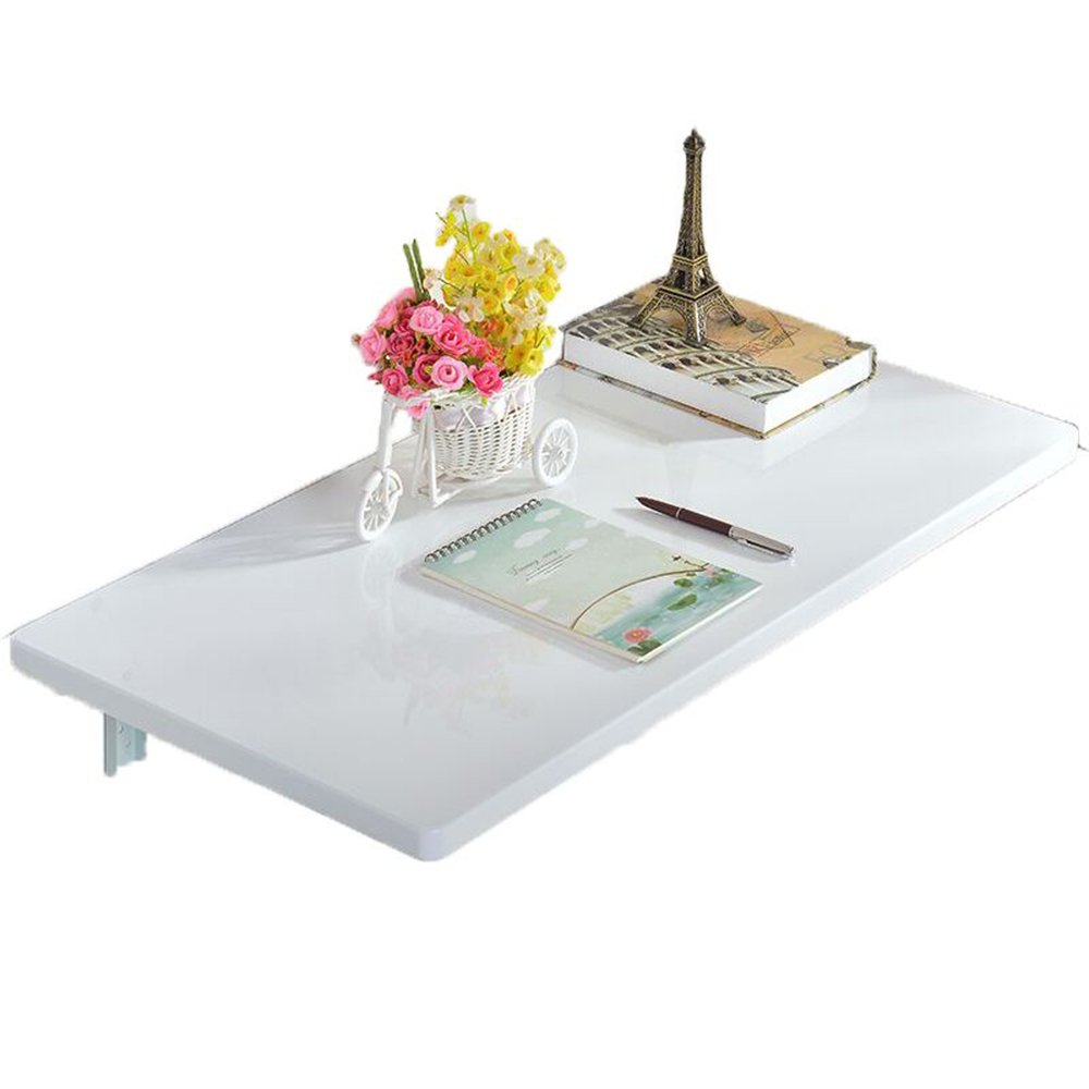 Home & Kitchen LHA Desks Wall-Mounted Piano Paint Folding Table Color : White, Size : 70 * 50cm