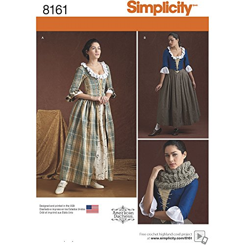Simplicity Creative Patterns 8161 Misses' 18th Century Costumes, R5 (16 Century Costumes)