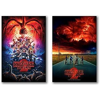 Stranger Things Season 2 Posters Set of 2 - 24in x 36in each TV Show - Fan Memorabilia