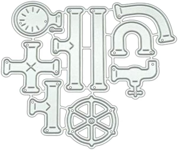 GUOjianhui Manguera de Agua DIY Troquelado de Metal Plantilla Scrapbooking /Álbum Sello Tarjeta de Papel Arte Artesan/ía decoraci/ón