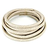 5mm round leather cord - BEADNOVA 5mm Beige Soft Smooth Round PU Faux Imitation Leather Crocodile Croc Skin Pattern Cords 2.2 Yards Pack