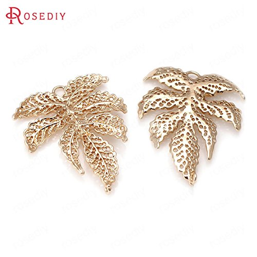 DIY retaining material such as copper gold plated jewelry bracelets necklace pendant earrings hair jewelry ornaments accessories leaves necklace pendant 31505